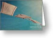 Windy Greeting Cards - Laundry Day Greeting Card by Priska Wettstein