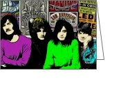 Yardbirds Greeting Cards - Led Zeppelin Greeting Card by Glenn Cotler