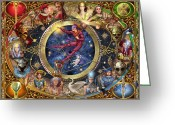 Chevalier Greeting Cards - Legacy of the Divine Tarot Greeting Card by Ciro Marchetti