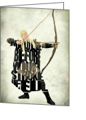 Wall Art Greeting Cards - Legolas - Orlando Bloom Greeting Card by Ayse Toyran