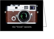 Think Greeting Cards - Leica M7 Greeting Card by David Bowman