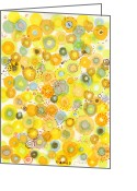 Regina Valluzzi Greeting Cards - Lemon Fizz Greeting Card by Regina Valluzzi