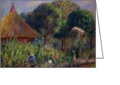 Featured Greeting Cards - Lenna by a Summer House Greeting Card by William James Glackens