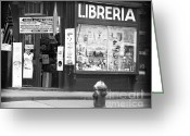 Little Italy Greeting Cards - Libreria 1990s Greeting Card by John Rizzuto