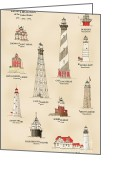 Fourteen Greeting Cards - Lighthouses of the East Coast Greeting Card by Jerry McElroy