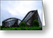 Racer Digital Art Greeting Cards - Lightning Racer - Hershey Park Greeting Card by Bill Cannon