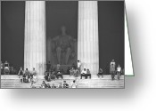 National Digital Art Greeting Cards - Lincoln Memorial - Washington DC Greeting Card by Mike McGlothlen