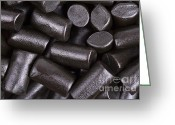 Edible Greeting Cards - Liquorice background Greeting Card by Jane Rix