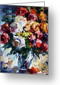 Leonid Afremov Greeting Cards - Little Bouquet Greeting Card by Leonid Afremov