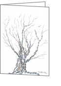 Regina Valluzzi Greeting Cards - Little DNA tree Greeting Card by Regina Valluzzi