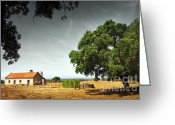 Shade Greeting Cards - Little Rural House Greeting Card by Carlos Caetano