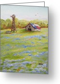 Jimmie Greeting Cards - Little Texas Barn Greeting Card by Jimmie Bartlett