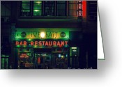 Manhattan Greeting Cards - Live Bait Greeting Card by Andrew Paranavitana
