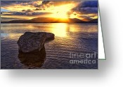Loch Greeting Cards - Loch Lomond Sunset Greeting Card by John Farnan