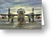 Gunship Greeting Cards - Lockheed P-2 Neptune Gunship Greeting Card by Lee Dos Santos