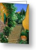 Lake Como Greeting Cards - Lofty Hights Greeting Card by Michael Swanson