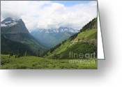 Carol Groenen Greeting Cards - Logans Pass Before the Storm Greeting Card by Carol Groenen