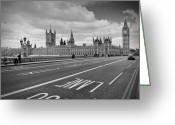 Art Of Building Greeting Cards - London - Houses of Parliament  Greeting Card by Melanie Viola