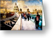 London England  Digital Art Greeting Cards - London of my Dreams Greeting Card by Mark E Tisdale