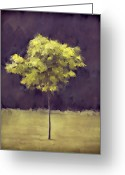 Carol Leigh Greeting Cards - Lone Tree Willamette Valley Oregon Greeting Card by Carol Leigh