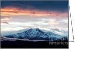 Rocky Mountains Greeting Cards Greeting Cards - Longs Peak in Winter Greeting Card by Jon Burch Photography