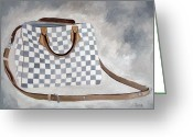 Louis Vuitton Painting Greeting Cards - Louis Vuitton Study I Greeting Card by Rebecca Jenkins
