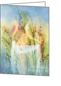 In The Nude Greeting Cards - Love Me In The Misty Dawn Greeting Card by Zeana Romanovna