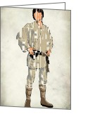 Luke Skywalker Greeting Cards - Luke Skywalker - Mark Hamill  Greeting Card by Ayse Toyran