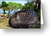Mary Deal Greeting Cards - Lydgate Beach Park Greeting Card by Mary Deal