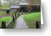Diannah Lynch Greeting Cards - Mabry Mill Early Spring Greeting Card by Diannah Lynch