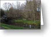 Diannah Lynch Greeting Cards - Mabry Mill In The Evening Greeting Card by Diannah Lynch