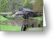 Diannah Lynch Greeting Cards - Mabry Mill in the Spring Greeting Card by Diannah Lynch