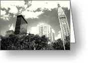 City Skylines Framed Prints Greeting Cards - Madison Square Towers Greeting Card by Liza Dey