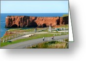 Panoramique Greeting Cards - Magdalene Islands Landscape Greeting Card by Rachel Gagne