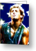 Born In The Usa Greeting Cards - Magical Boss Greeting Card by Paul Van Scott