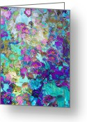 Floral Abstracts Greeting Cards - Magical Garden Greeting Card by Ann Powell