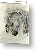 Buckskin Horse Greeting Cards - Majestic Mustang 30 Greeting Card by AmyLyn Bihrle