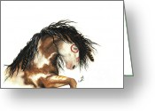 Fine American Art Greeting Cards - Majestic Mustang 64 Greeting Card by AmyLyn Bihrle