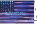 Us Capital Greeting Cards - Majestic Purple Flag Greeting Card by Eric  Schiabor