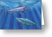 Mako Shark Greeting Cards - Mako Sword Greeting Card by Carey Chen