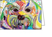 Melita Greeting Cards - Maltese Puppy Greeting Card by Eloise Schneider