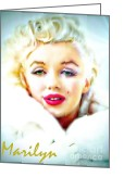 Starlet Greeting Cards - Marilyn Monroe Greeting Card by Barbara Chichester