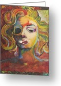 Caron Greeting Cards - Marilyn Monroe Greeting Card by Mike Caron