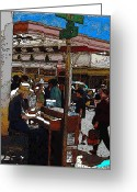 Tim Allen Greeting Cards - Market Busker 10 Greeting Card by Tim Allen