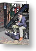 Tim Allen Greeting Cards - Market Busker 11 Greeting Card by Tim Allen