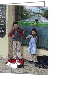 Tim Allen Greeting Cards - Market Buskers 2 Greeting Card by Tim Allen