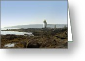 Shore Digital Art Greeting Cards - Marshall Point Lighthouse - Maine Greeting Card by Mike McGlothlen