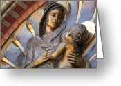 Spokane Greeting Cards - MARY and JESUS Greeting Card by Daniel Hagerman