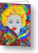 Marylin Greeting Cards - Marylin Greeting Card by Roberto Gagliardi