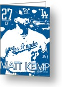 Baseball Drawings Greeting Cards - Matt Kemp Greeting Card by Israel Torres